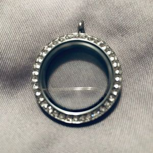 Origami Owl Large Silver Locket